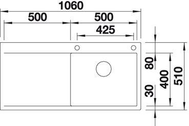 blancoflow xl 6 s if oder flow xl 6s i f von blanco 517553. Black Bedroom Furniture Sets. Home Design Ideas