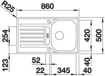spuele sp len blanco edelstahl lantos blancolantos 45s if 45 s 519717 sp lenshop. Black Bedroom Furniture Sets. Home Design Ideas