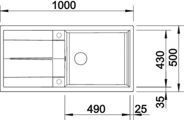 blancometra xl 6 s spuele sp len blanco silgranit puradur ii metra xl 6s. Black Bedroom Furniture Sets. Home Design Ideas