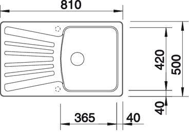 blanconova 45 s oder blanco nova 45s eine granitsp le aus silgranit hier online kaufen sp lenshop. Black Bedroom Furniture Sets. Home Design Ideas