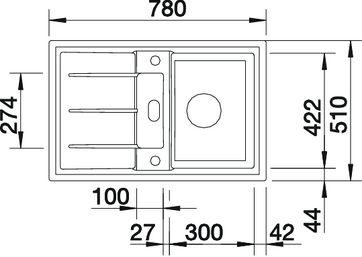 blancoprion 45 s oder die prion4 5s eine keramiksp le von blanco finden sie bei uns sp lenshop. Black Bedroom Furniture Sets. Home Design Ideas