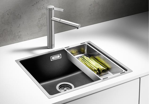 granit sp le blanco subline 500 if steelframe silgranit. Black Bedroom Furniture Sets. Home Design Ideas