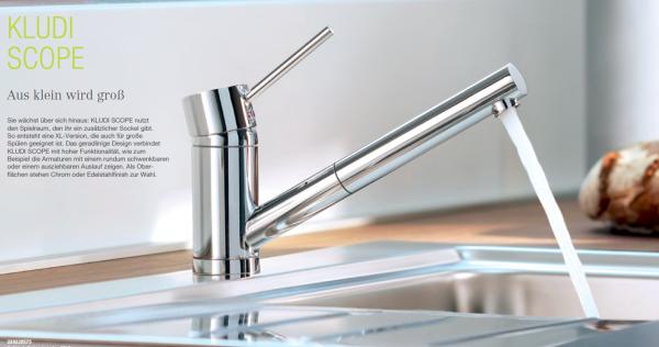 k chenarmatur kludi scope f chrom hochdruck sp ltisch einhebelmischer. Black Bedroom Furniture Sets. Home Design Ideas