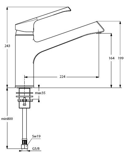 Küchenarmatur   Ideal Standard   Retta   -F   Chrom   Hochdruck ...